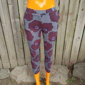 Topshop Petite floral pants size 4